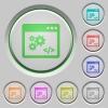 API push buttons - Set of color API sunk push buttons.