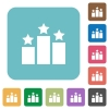 Flat ranking icons - Flat ranking icons on rounded square color backgrounds.