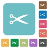Flat cut icons - Flat cut icons on rounded square color backgrounds.