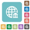 Flat internet banking icons - Flat internet banking icons on rounded square color backgrounds.