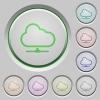 Cloud network push buttons - Set of color Cloud network sunk push buttons.