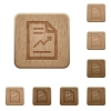 Report wooden buttons - Set of carved wooden report buttons in 8 variations.