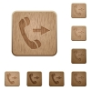 Outgoing call wooden buttons - Set of carved wooden outgoing call buttons in 8 variations.