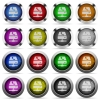 VoIP services glossy button set - Set of VoIP services glossy web buttons. Arranged layer structure.
