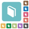 Flat book icons - Flat book icons on rounded square color backgrounds.