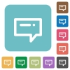 Flat typing message icons - Flat typing message icons on rounded square color backgrounds.