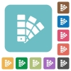 Flat color swatch icons - Flat color swatch icons on rounded square color backgrounds.