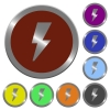 Color flash buttons - Set of color glossy coin-like flash buttons
