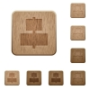 Align to center wooden buttons - Set of carved wooden Align to center buttons in 8 variations.