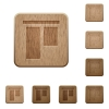 Align to top wooden buttons - Set of carved wooden Align to top buttons in 8 variations.