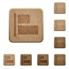 Align to left wooden buttons - Set of carved wooden Align to left buttons in 8 variations.