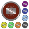 Color chip tuning buttons - Set of color glossy coin-like chip tuning buttons