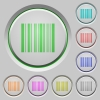 Barcode push buttons - Set of color Barcode sunk push buttons.