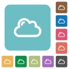 Flat cloud icons - Flat cloud icons on rounded square color backgrounds.
