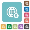Flat online dollar payment icons - Flat online dollar payment icons on rounded square color backgrounds.