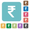 Flat Indian Rupee sign icons - Flat Indian Rupee sign icons on rounded square color backgrounds.