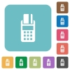 Flat POS terminal icons - Flat POS terminal icons on rounded square color backgrounds.