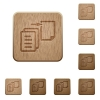 Move file wooden buttons - Set of carved wooden move file buttons in 8 variations.