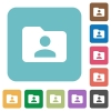 Flat folder owner icons - Flat folder owner icons on rounded square color backgrounds.