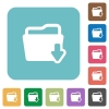Flat download folder icons - Flat download folder icons on rounded square color backgrounds.