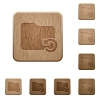 Undo folder operation wooden buttons - Set of carved wooden Undo folder operation buttons in 8 variations.