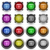 Move window glossy button set - Set of move window glossy web buttons. Arranged layer structure.