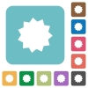 Flat certificate icons - Flat certificate icons on rounded square color backgrounds.
