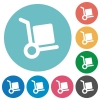 Flat parcel delivery icons - Flat parcel delivery icon set on round color background.