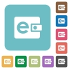 Flat e-wallet icons - Flat e-wallet icons on rounded square color backgrounds.
