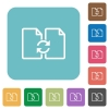 Flat Swap documents icons - Flat Swap documents icons on rounded square color backgrounds.