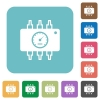 Flat hardware diagnostic icons - Flat hardware diagnostic icons on rounded square color backgrounds.
