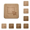 Drag and drop operation wooden buttons - Set of carved wooden Drag and drop operation buttons in 8 variations.