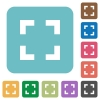 Flat selector tool icons - Flat selector tool icons on rounded square color backgrounds.