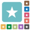 Flat favorite icons - Flat favorite icons on rounded square color backgrounds.