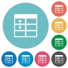 Flat Spreadsheet adjust table row height icons - Flat Spreadsheet adjust table row height icon set on round color background.