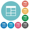 Flat Spreadsheet vertically merge table cells icons - Flat Spreadsheet vertically merge table cells icon set on round color background.
