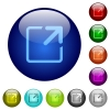 Color maximize window glass buttons - Set of color maximize window glass web buttons.