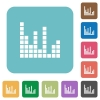 Flat sound bars icons - Flat sound bars icons on rounded square color backgrounds.