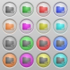 Export folder plastic sunk buttons - Set of export folder plastic sunk spherical buttons.