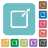 Flat adjust item size proportionally icons on rounded square color backgrounds. - Flat adjust item size proportionally icons