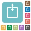 Flat adjust item height icons - Flat adjust item height icons on rounded square color backgrounds.