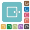 Flat adjust item width icons - Flat adjust item width icons on rounded square color backgrounds.