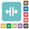 Flat vertical split icons on rounded square color backgrounds. - Flat vertical split icons
