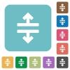 Flat horizontal split icons on rounded square color backgrounds. - Flat horizontal split icons
