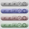 Gears icons on menu bars - Gears icons on rounded horizontal menu bars in different colors and button styles