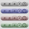 Home icons on menu bars - Home icons on rounded horizontal menu bars in different colors and button styles