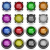 Calendar alarm glossy button set - Set of calendar alarm glossy web buttons. Arranged layer structure.