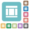 Flat Three columned web layout icons - Flat Three columned web layout icons on rounded square color backgrounds.
