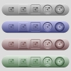 Resize window icons on menu bars - Resize window icons on rounded horizontal menu bars in different colors and button styles