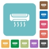 Flat air conditioner icons - Flat air conditioner icons on rounded square color backgrounds.